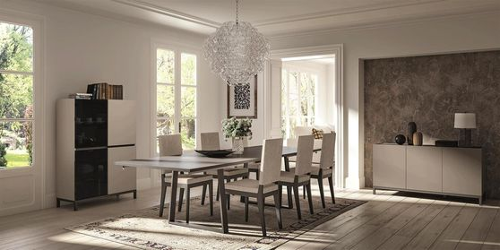 Italy-made ultra-modern dining table w/ 2 extensions