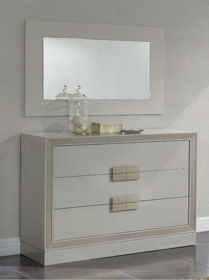 Semigloss finish contemporary dresser