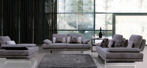 Adjustable back modern style fabric sofa set