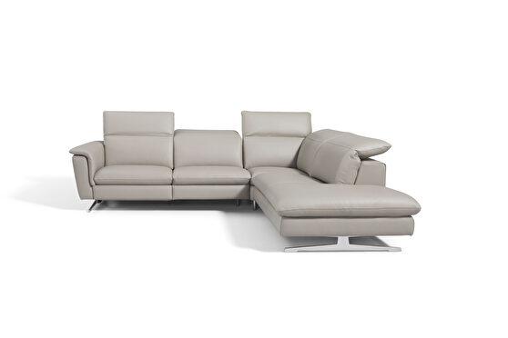 Contemporary light gray sectional sofa