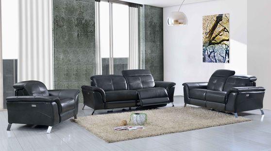 Dark gray leather 3pcs set