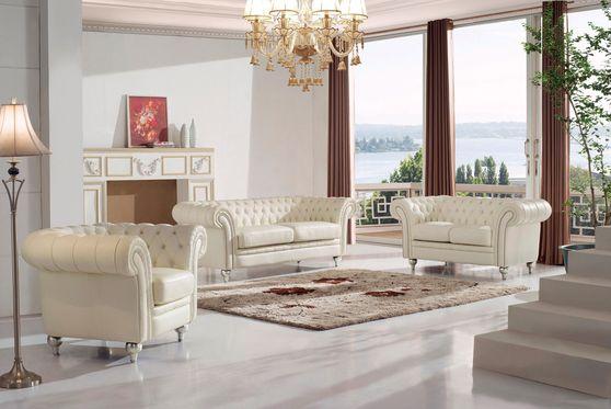 Modern tufted design beige 3pcs set