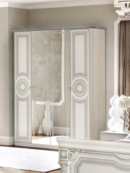 Classic touch elegant roman style 4dr wardrobe