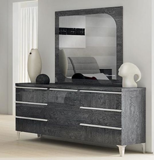 Gray lacquer modern dresser made in Italy
