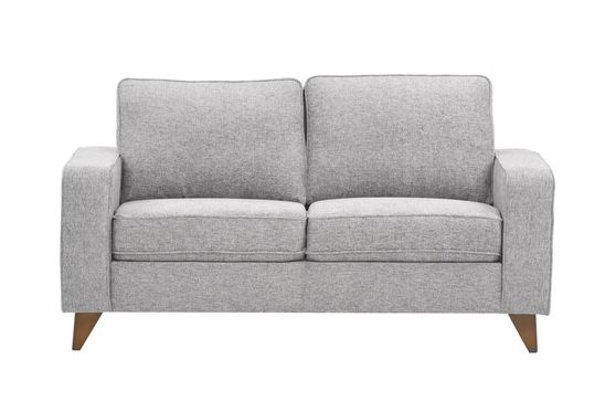 Light gray chenille fabric casual style loveseat