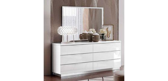 White high gloss modern dresser