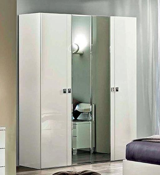 White high gloss modern 4dr wardrobe