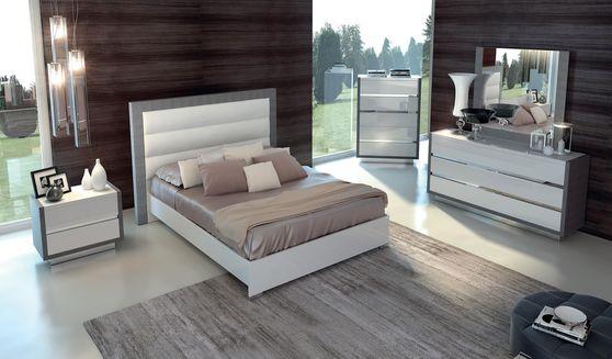 5pcs contemporary king size bedroom set