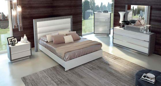 White Queen Size 5PCS bedroom set
