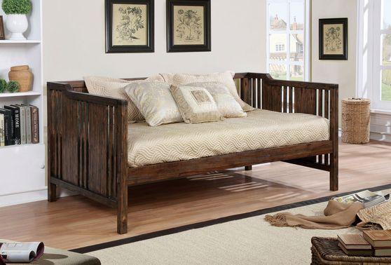 Slatted wood panel stylish daybed