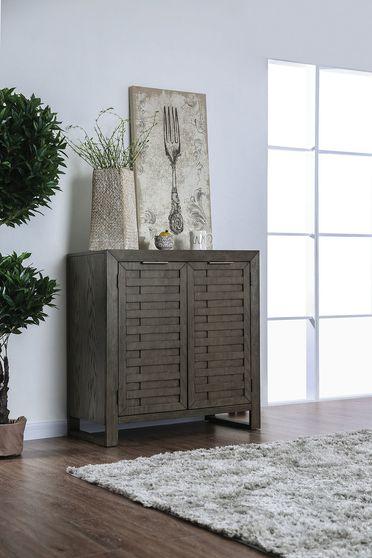 Gray transitional design server / buffet