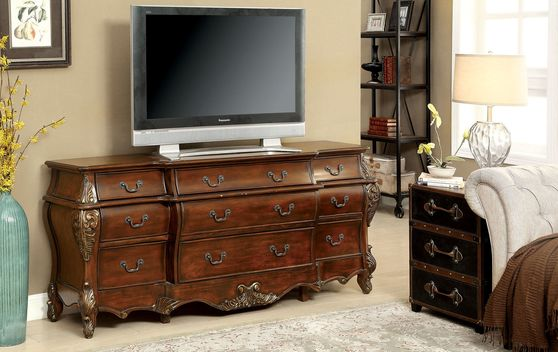 Traditional cherry finish buffet/display/TV Stand