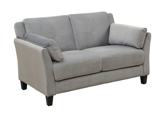 Gray flannelette fabric affordable loveseat