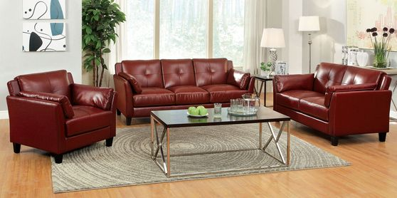 Casual red contemporary affordable sofa