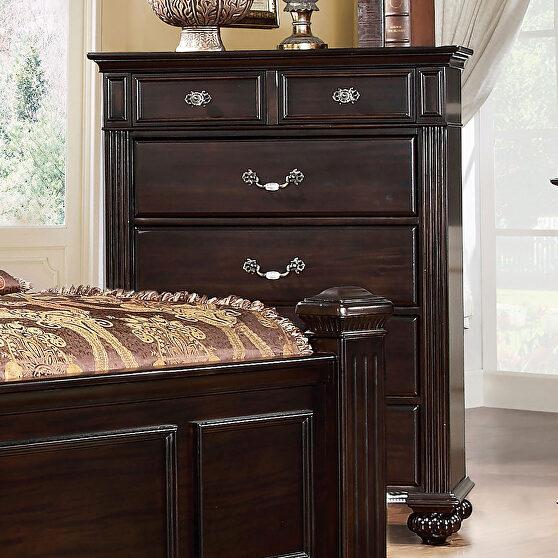 Dark walnut chest in traditional style