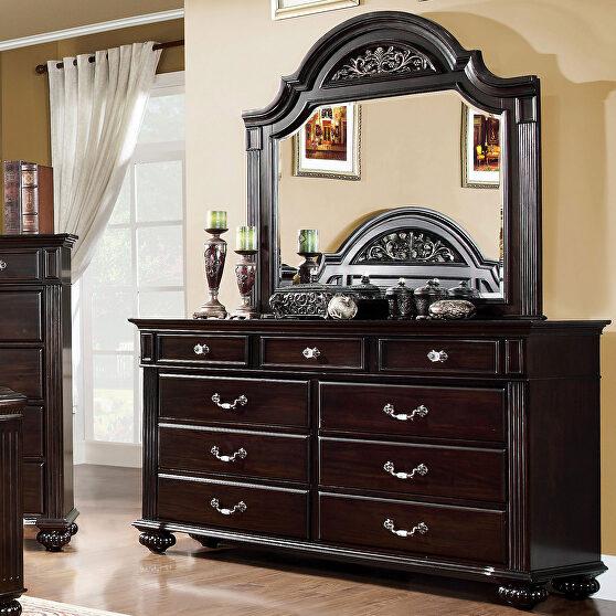Dark walnut dresser in traditional style
