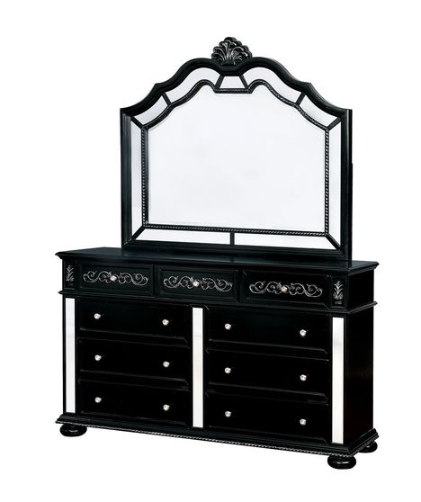 Classic dresser with mirrored accents