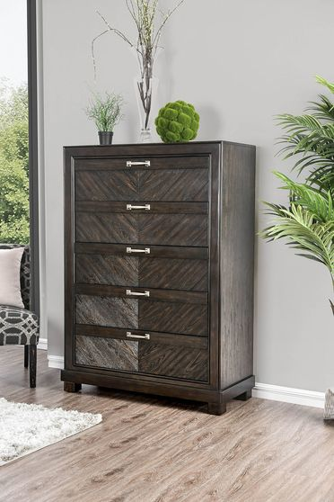 Espresso transitional style chest