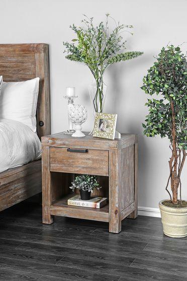 Weathered light oak transitional bed