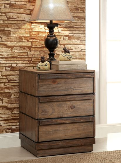 Rustic modern style night stand