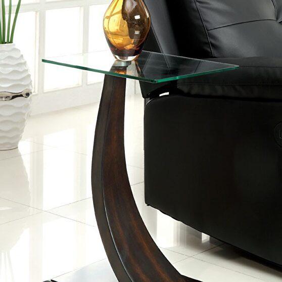 Dark walnut contemporary side table
