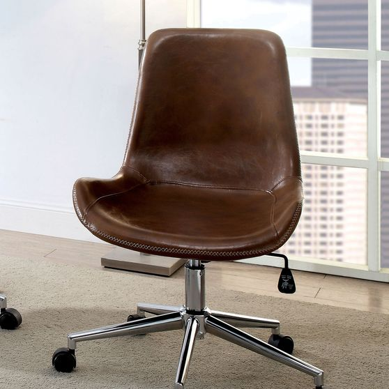 Brown Contemporary Office Chair