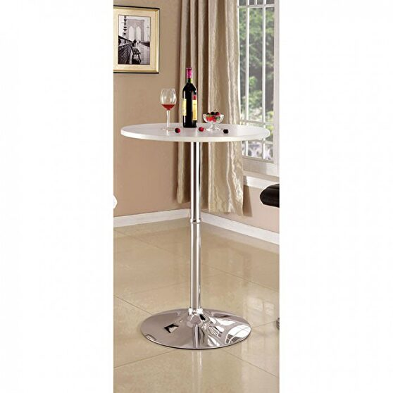 White round top contemporary bar table