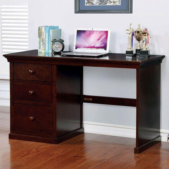 Dark walnut finish computer / office desk