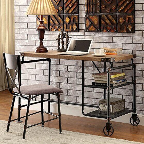 Antique black industrial desk