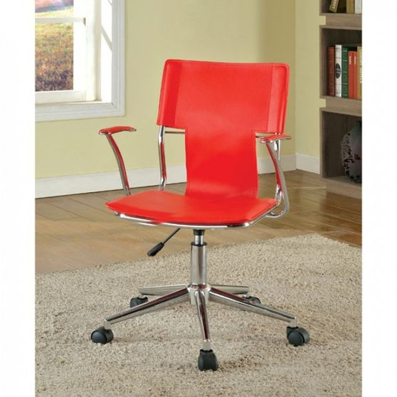Contemporary red office style chair