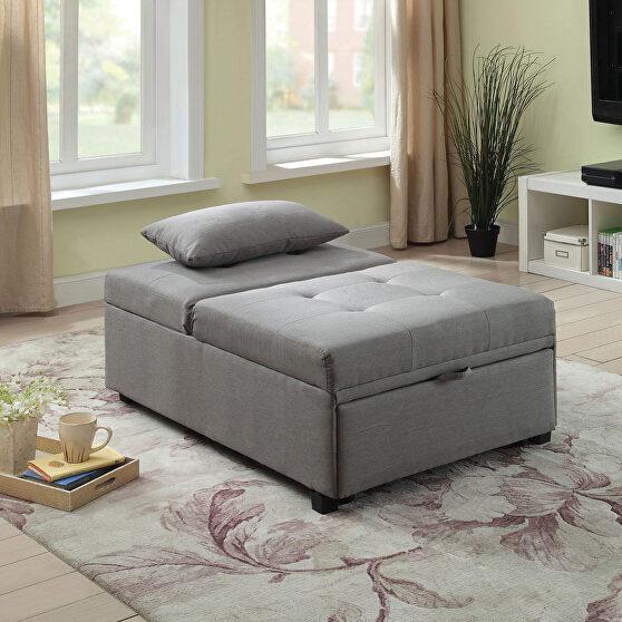 Gray transitional futon sofa