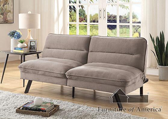 Gray flannelette stylish futon sofa