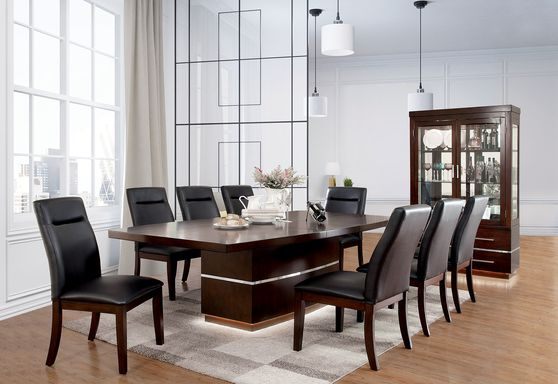 Dark cherry contemporary style large dining table