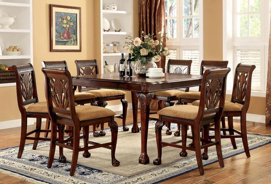 Cherry Traditional Dining Table in Counter Height