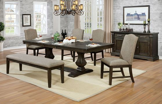Espresso family size dining table
