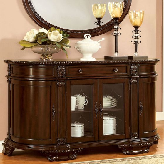 Brown cherry traditional server