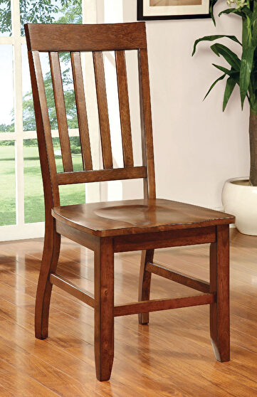 Dark oak transitional style dining chair
