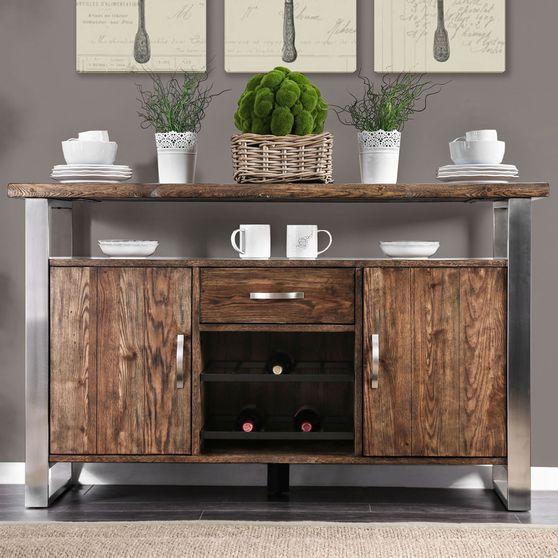 Rustic oak finish server / buffet