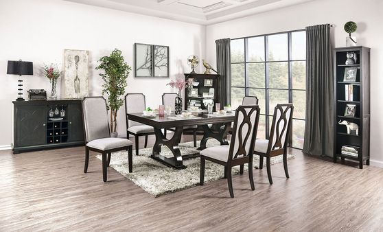 Espresso transitional dining table
