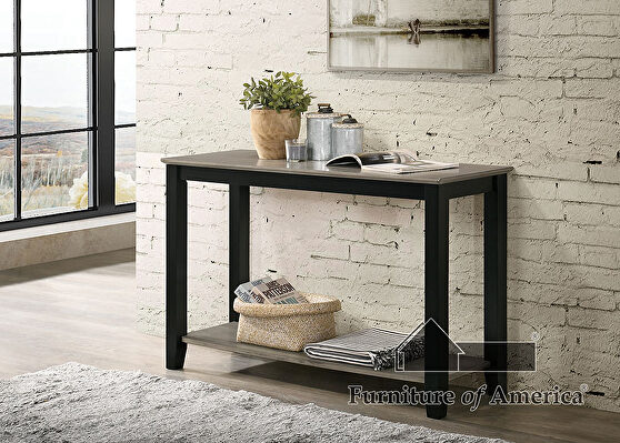 Two-tone design solid wood sofa table