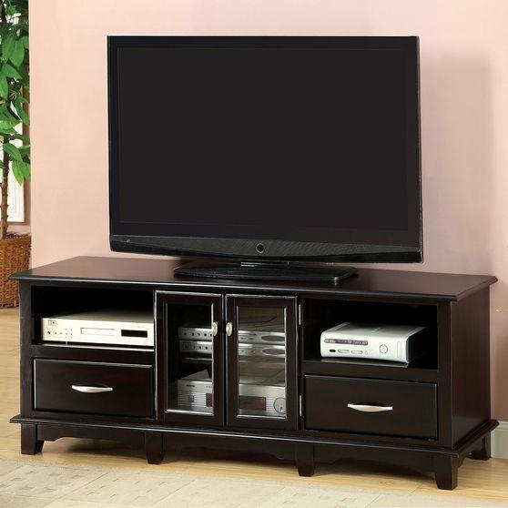 Espresso Transitional 63-inch TV Console