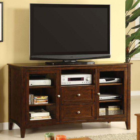 Dark Walnut Transitional 60-inch TV Console