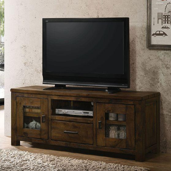 Rustic Oak Carole Industrial TV Stand