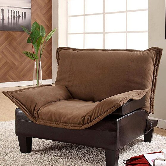 Mocha and espresso transitional style chair