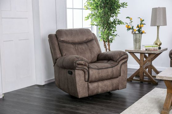 Brown Traditional Reclining Chair