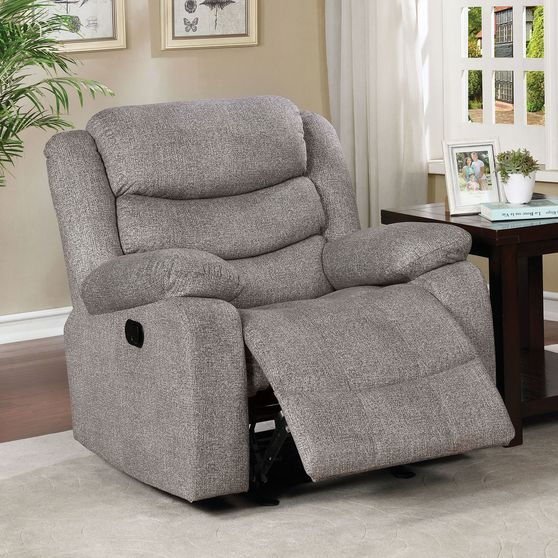 Light Gray Contemporary Recliner Chair