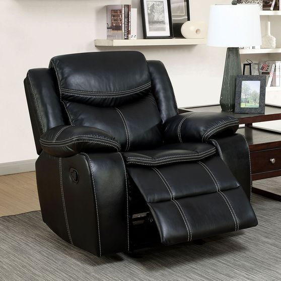 Black Transitional Recliner Chair