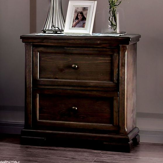 Walnut traditional style night stand