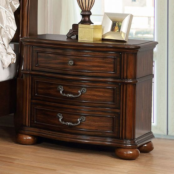 Traditional brown cherry night stand
