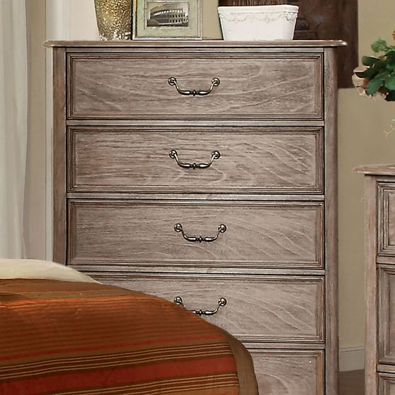 Transitional rustic natural tone chest